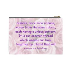 Sisters By Joan   Cosmetic Bag (large)   Iftbhzln72x0   Www Artscow Com Back