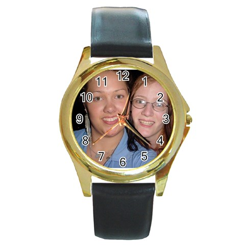 Marleana And Me By Karie   Round Gold Metal Watch   3fbflsiljuit   Www Artscow Com Front