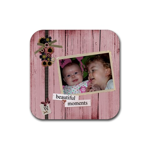 Coaster By Brooke Burnie   Rubber Coaster (square)   Qio1aa8kapwo   Www Artscow Com Front