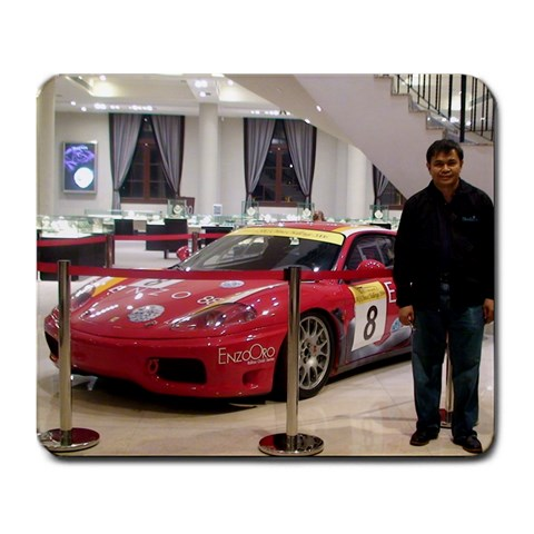 Papa s Dream Car By Melissa Solito   Large Mousepad   Tzhc3y0dkg1q   Www Artscow Com Front