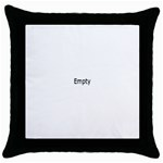 Pillow with Grandpa - Throw Pillow Case (Black)