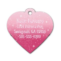 Dog Tag With Address, Phone For Backpack By Jessica Navarro   Dog Tag Heart (two Sides)   Yqcng0ltd4cv   Www Artscow Com Back