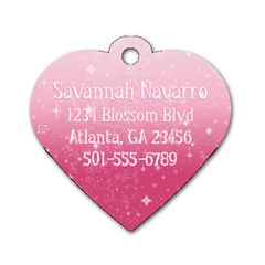 Backpack Id Dog Tag By Jessica Navarro   Dog Tag Heart (two Sides)   S4m6dwi451m3   Www Artscow Com Back