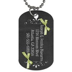 Family Luggage Tags By Jessica Navarro   Dog Tag (two Sides)   Kb4trk11qhob   Www Artscow Com Back