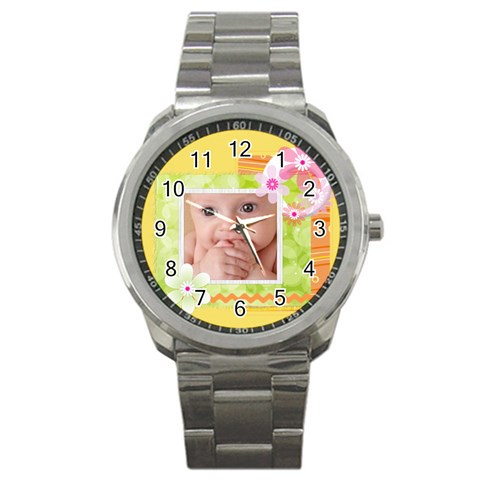 Baby Watch By Joely   Sport Metal Watch   Hwhd55u3y9ub   Www Artscow Com Front