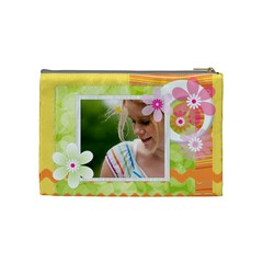 Flower Bag By Joely   Cosmetic Bag (medium)   Ubtnnns1206e   Www Artscow Com Back