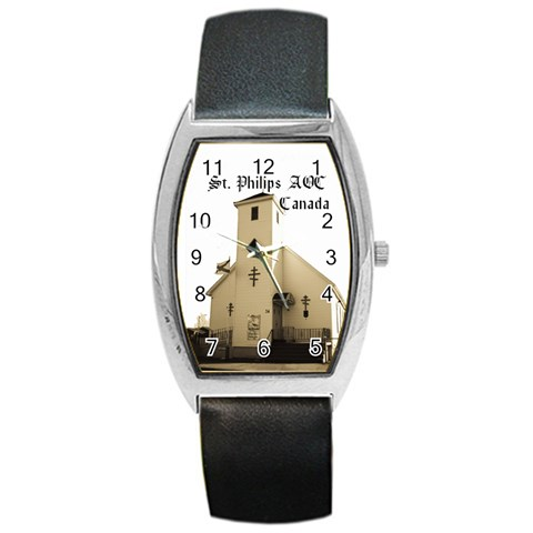 Womens St  Philips Watch Black Font By Chantel Reid Demeter   Barrel Style Metal Watch   Gq3azt20dzrx   Www Artscow Com Front
