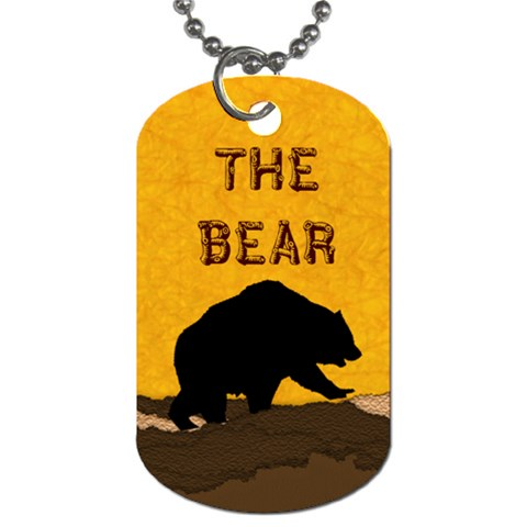 Bear By Amarilloyankee   Dog Tag (one Side)   22936x6m4eqe   Www Artscow Com Front