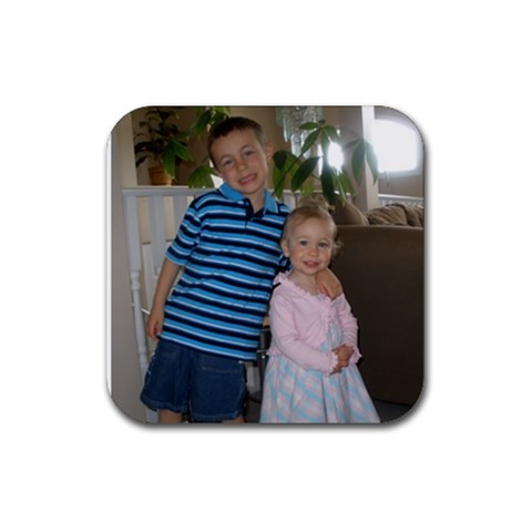 Ethan And Avery Coasters By Kelly   Rubber Coaster (square)   Dbxf9ah8xt37   Www Artscow Com Front