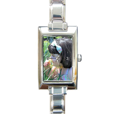 By Sharon M  Blair   Rectangle Italian Charm Watch   Kwv32wp67517   Www Artscow Com Front