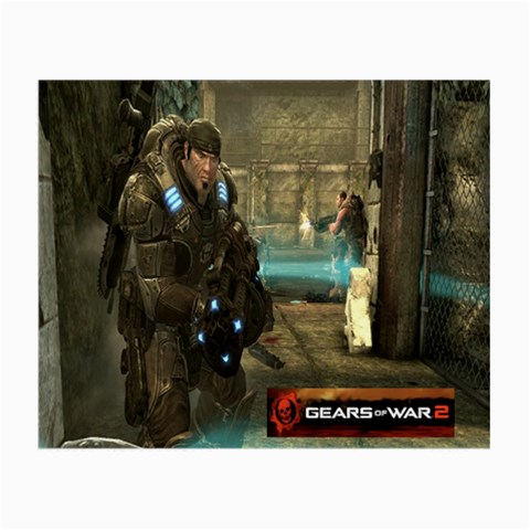 Gears Of War 2 By Alexander Stephens   Small Glasses Cloth   Vxk2qaj6vbak   Www Artscow Com Front