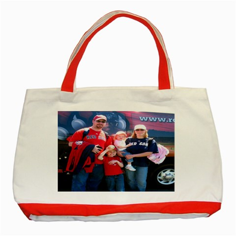Our Red Family Tote Bag 2010 By Jen   Classic Tote Bag (red)   U64a8p8d7yvb   Www Artscow Com Front