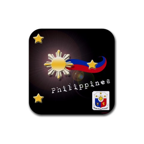 Philippine Design Coasters By Wlenz Photo   Rubber Coaster (square)   Qwuxyucjg3it   Www Artscow Com Front