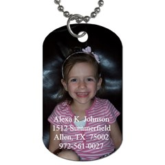 Alexa s Dog Tag By Stephanie   Dog Tag (two Sides)   85pkz9vjvuax   Www Artscow Com Front