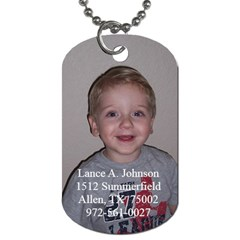 Lance s Dog Tag By Stephanie   Dog Tag (two Sides)   Nsxibomt4e53   Www Artscow Com Front