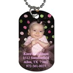 Kiera s Dog Tag - Dog Tag (Two Sides)