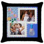 cojin MAMA - Throw Pillow Case (Black)