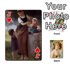 Jack Dogs, Cats And Children By Helen Norton By Helen   Playing Cards 54 Designs   Jiv7hindenbs   Www Artscow Com Front - HeartJ