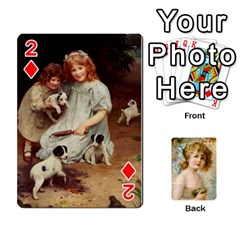 Dogs, Cats And Children By Helen Norton By Helen   Playing Cards 54 Designs   Jiv7hindenbs   Www Artscow Com Front - Diamond2
