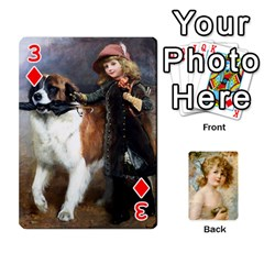 Dogs, Cats And Children By Helen Norton By Helen   Playing Cards 54 Designs   Jiv7hindenbs   Www Artscow Com Front - Diamond3