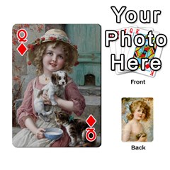 Queen Dogs, Cats And Children By Helen Norton By Helen   Playing Cards 54 Designs   Jiv7hindenbs   Www Artscow Com Front - DiamondQ