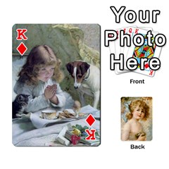King Dogs, Cats And Children By Helen Norton By Helen   Playing Cards 54 Designs   Jiv7hindenbs   Www Artscow Com Front - DiamondK