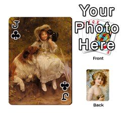 Jack Dogs, Cats And Children By Helen Norton By Helen   Playing Cards 54 Designs   Jiv7hindenbs   Www Artscow Com Front - ClubJ