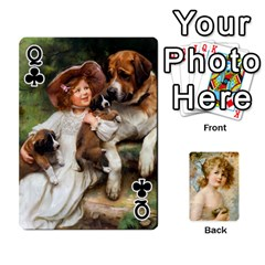 Queen Dogs, Cats And Children By Helen Norton By Helen   Playing Cards 54 Designs   Jiv7hindenbs   Www Artscow Com Front - ClubQ