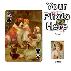 Ace Dogs, Cats And Children By Helen Norton By Helen   Playing Cards 54 Designs   Jiv7hindenbs   Www Artscow Com Front - ClubA