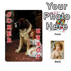 Dogs, Cats And Children By Helen Norton By Helen   Playing Cards 54 Designs   Jiv7hindenbs   Www Artscow Com Front - Joker2