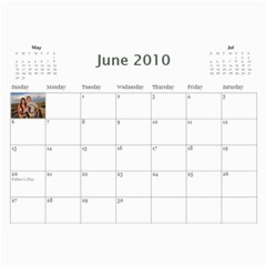 Brown Family Calendar By Shelly   Wall Calendar 11  X 8 5  (12 Months)   Gyxbncz1d6um   Www Artscow Com Jun 2010