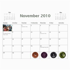 Brown Family Calendar By Shelly   Wall Calendar 11  X 8 5  (12 Months)   Gyxbncz1d6um   Www Artscow Com Nov 2010