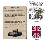 Up Front British Soldiers - Playing Cards 54 Designs
