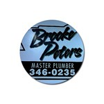 free Brooke Peters plumbing coasterz!!! - Rubber Coaster (Round)