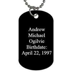 Andrew Dog Tag By Sharon   Dog Tag (two Sides)   Lfmy2mmwa8h1   Www Artscow Com Back