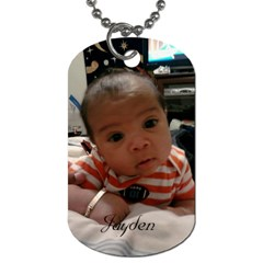 Babys By Krystal M    Dog Tag (two Sides)   L1ovu6d9csrg   Www Artscow Com Front