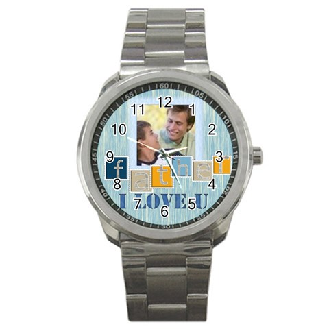Father Gift By Joely   Sport Metal Watch   Eyfabpin6ajr   Www Artscow Com Front