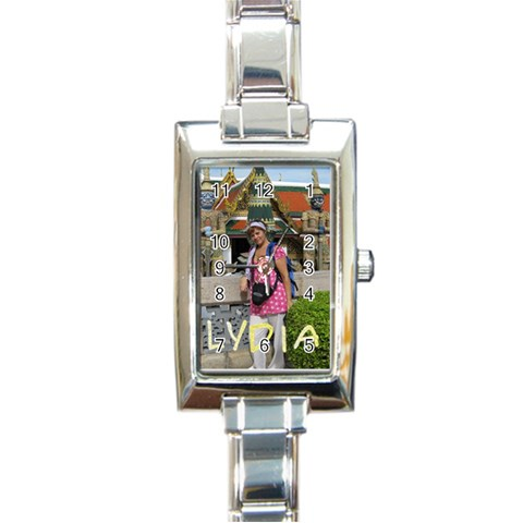 Reloj Tai By Lydia   Rectangle Italian Charm Watch   6n8qe5pse1us   Www Artscow Com Front