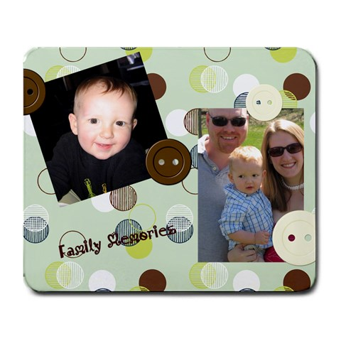 Family Mouse Pad By Michelle   Large Mousepad   Owyvr7nw2x4o   Www Artscow Com Front