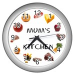 kitchen clock - Wall Clock (Silver)