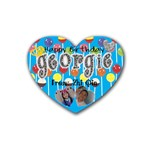 Georgie s Birthday Present - Rubber Coaster (Heart)
