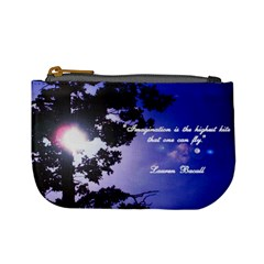 Sun Thru Tree   Imagination (lauren Bacall) By Jessica   Mini Coin Purse   5zl0q86dtaue   Www Artscow Com Front