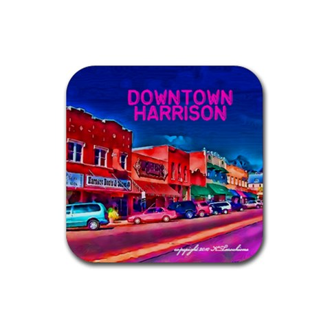 Downtown Harrison Coaster By Kathy Tarochione   Rubber Coaster (square)   Lcu0v0dtzv6h   Www Artscow Com Front