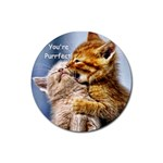 Purrfect round coaster - Rubber Coaster (Round)