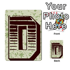 Alpha Cards By Carissa   Multi Purpose Cards (rectangle)   Gtwlzpnfqmce   Www Artscow Com Back 8