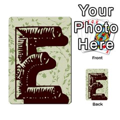 Alpha Cards By Carissa   Multi Purpose Cards (rectangle)   Gtwlzpnfqmce   Www Artscow Com Back 9