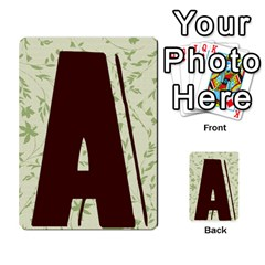 Alpha Cards By Carissa   Multi Purpose Cards (rectangle)   Gtwlzpnfqmce   Www Artscow Com Back 2