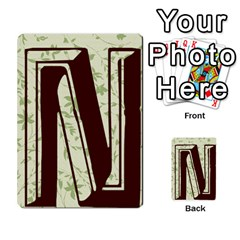 Alpha Cards By Carissa   Multi Purpose Cards (rectangle)   Gtwlzpnfqmce   Www Artscow Com Back 24