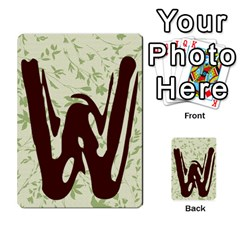 Alpha Cards By Carissa   Multi Purpose Cards (rectangle)   Gtwlzpnfqmce   Www Artscow Com Back 38