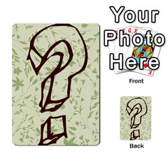 Alpha Cards By Carissa   Multi Purpose Cards (rectangle)   Gtwlzpnfqmce   Www Artscow Com Back 45